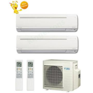 15000 + 15000 Btu Daikin Dual Zone Ductless Wall Mount Heat Pump Air Conditioner