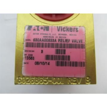 Vickers Netheriands / Eaton 630AA00833A, Hydraulic Relief Valve