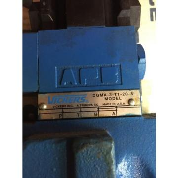 VICKERS Luxembourg DG5S8-0A-MFWB-6-40 HYDRAULIC PILOT DIRECTIONAL CONTROL VALVE  Origin