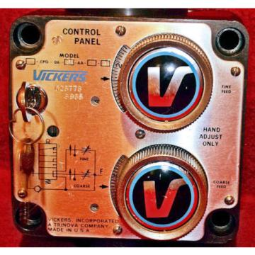 Vickers Barbuda  60 Series Hydraulic Slide Dual Feed Control Panel CPT 06 30AA 12 ~ Origin