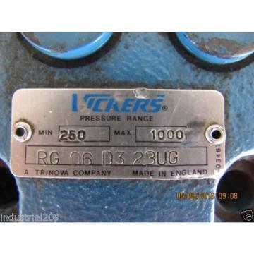 VICKERS Barbados HYDRAULIC VALVE RG06D323UG Origin