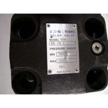 Eaton Barbados Vickers 590960 Hydraulic Relief Valve CG-10 C-30 120 GPM