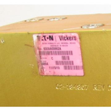 Eaton/Vickers Reunion  Hydraulic Valve Actuator/Manifold 630AA00662A