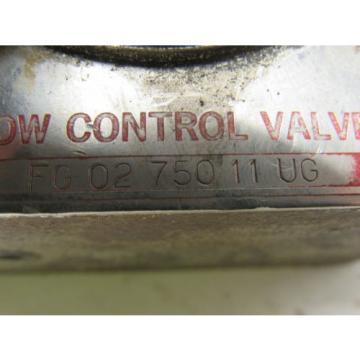 Vickers Ecuador FG 02 750 11 UG Hydraulic Flow Control Valve