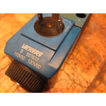 Vickers Niger DG4V-3-7C-M-U-B6-60 Hydraulic Valve 871126 Coils B 507833