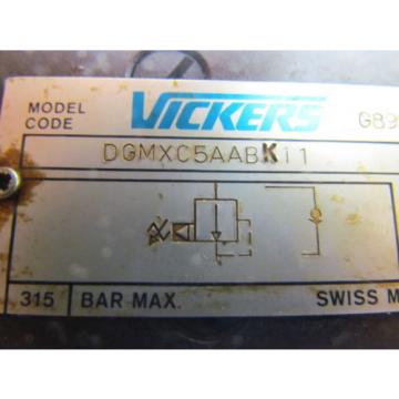 Vickers Swaziland  DGMXC5AABK11 Pressure Reducing Hydraulic Valve NO Key