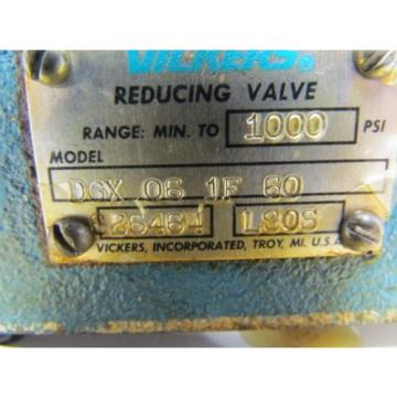 Vickers France  DGX-06-1F-60 Hydraulic Pressure Reducing Valve/Module 1000 PSI Max