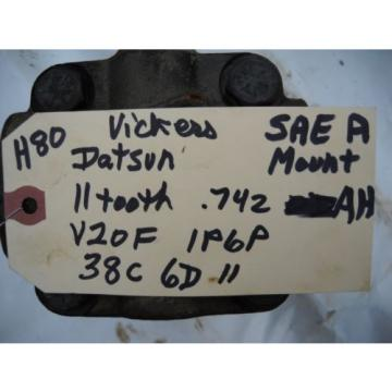 VICKERS Costa Rica  V20F 1P6P 38C 6D11 HYDRAULIC PUMP SAE A MOUNT SAE AH SHAFT off DATSUN