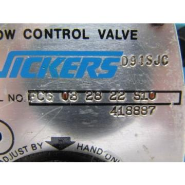 Vickers Andorra  FCG-03-28-22-S10 Manifold Mounted Keyed Hydraulic Flow Control Valve