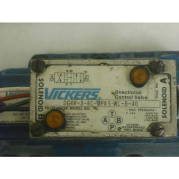VICKERS France  HYDRAULIC DIRECTION CONTROL VALVE 110VAC COILS