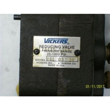 VICKERS Bahamas  REDUCING VALVE 25 - 1000 PSI , XGL03B10 , XGL 03 B 10