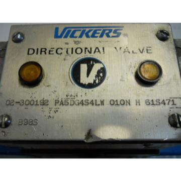 VICKERS Slovenia  PA5DG4S4LW 010N H 61S471 HYDRAULIC DIRECTIONAL SOLENOID VALVE 24V  USED
