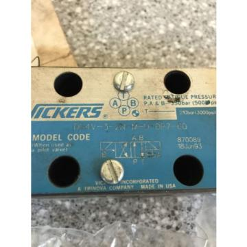Origin Burma  NO BOX VICKERS HYDRAULIC VALVE DG4V-3-2N-M-U-DP7-60
