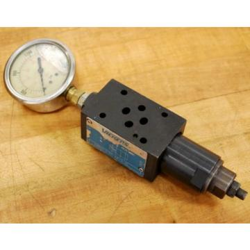 Vickers Gibraltar  DGMX2-3-PP-AW-S-40 Hydraulic Pressure Valve with Gauge