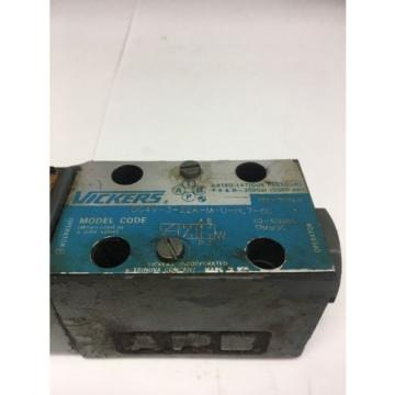 Vickers Ethiopia  DG4V-3-22A-M-U-HL7-60 Hydraulic Solenoid Valve 24VDC CoilFast Shipping