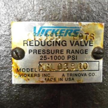 VICKERS Bulgaria  25-1000PSI, REDUCING VALVE XGL03B10