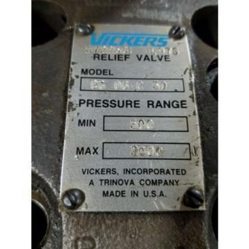Vickers Uruguay Relief Valve CG-06-C-50 B945 500-2000 PSI Range