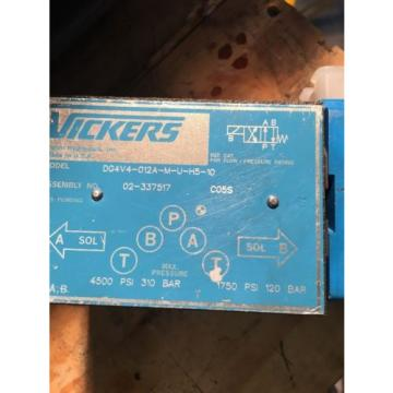 EATON Russia  VICKERS DG4V4 -012A-M-U-H5 -10 HYDRAULIC DIRECTIONAL CONTROL VALVE