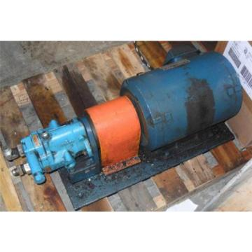 #250 Reunion  Reliance AC Motor 215T P21G12D-LY 10-HP 230/460V + Vickers PVB5-RSY-21 Pump