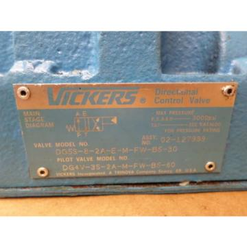 Vickers United States of America  DG4V-3S-2A-M-FW-B5-60  w/ Directional Control Valve