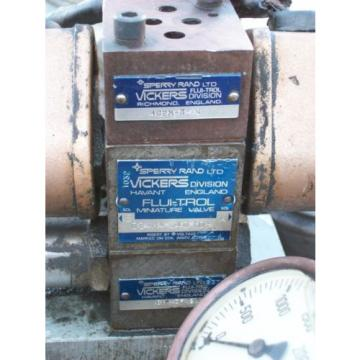 VICKERS Cuba  HYDRAULIC PUMP POWER UNIT , CHJ0-712-2