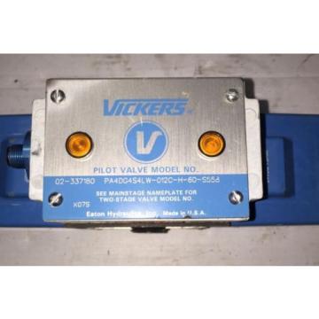 VICKERS Reunion PILOT VALVE PA4DG4SLW-012C-H-60S558 02-337180 24DCV H18-TOP