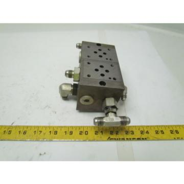Vickers Moldova, Republic of  DGMS-3-2E-10-S 2 station hydraulic subplate port size SAE 3/4-16 UNF-2B