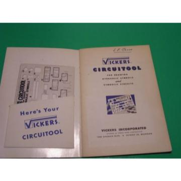 Vickers Honduras  Circuitool for Drawing Hydraulic Symbols and Symbolic Circuits 1952