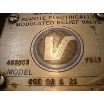 origin Fiji  GENUINE Eaton Vickers hydraulic Modulated Relief Valve CGE-02-1-21