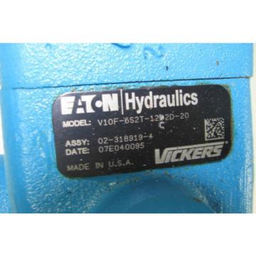 Vickers Rep. Eaton 02-318919-4 Hydraulic Vane Pump V10F-6S2T-12C2D-20 Factory Rebuild