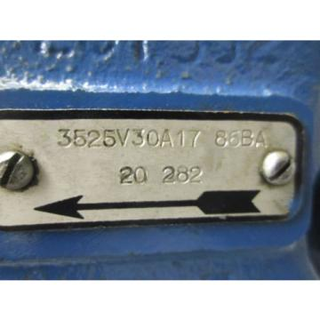 Vickers Argentina 3525V30A17 Hydraulic Vane Pump 30 GPM 86BA 20 282 Rebuilt Guaranteed