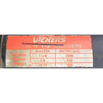 Vickers Solomon Is  T-J Hydraulic Cylinder  6#034; Stroke  1000 PSI  Fixed Mount