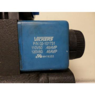 Used Ethiopia Vickers Solenoid Actuated Hydraulic Directional Control Valve, 110-120V