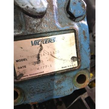 Origin Netheriands  VICKERS 25VQ11A-11A20 HYDRAULIC PUMP, FAST SHIPPING HP PT