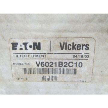 Eaton Vietnam  Vickers V6021B2C10 Hydraulic Filter Element NIB