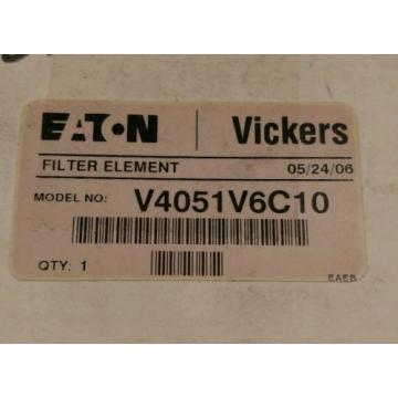 VICKERS Liberia  Filters Eaton HYDRAULIC FILTER ELEMENT V4051V6C10  NOS