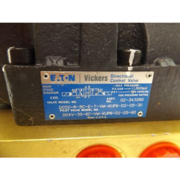 EATON Brazil  VICKERS HYDRAULIC DIRECTIONAL CONTROL VALVE ACTUATOR MANIFOLD 630AA00662A