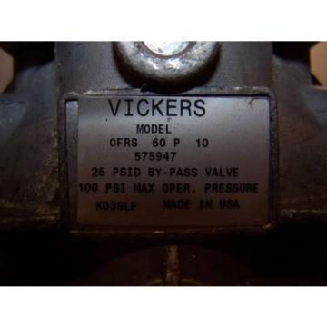 Origin France  VICKERS 1-1/2#034; PORT HYDRAULIC FILTER OFRS60P10 100 PSI MAX 10 MICRON 941107