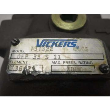 Origin Mauritius  VICKERS OFP 35 S 11 737322 HYDRAULIC FILTER D518014