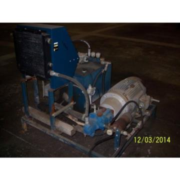 Vickers Gambia  30 Hp Hydraulic Oil Pump w/cooler amp; Reservoir- Nice