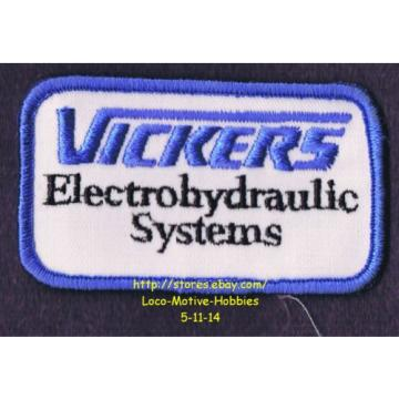 LMH Egypt  PATCH Badge  VICKERS ELECTROHYDRAULIC SYSTEMS  Electro Hydraulic  EATON Logo