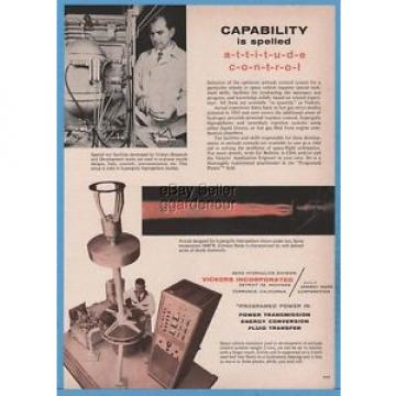 1961 Honduras  Vickers Aero Hydraulics Detroit MI Torrance CA Space Vehicle Simulator Ad