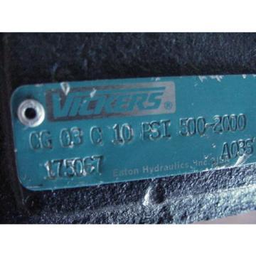 BRAND Botswana Origin  /  VICKERS CG-03-C-10 10PSI 500-2000 HYDRAULIC RELIEF CHECK VALVE