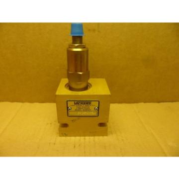 VICKERS Bahamas  RV5-10-S-6H-50/ HYDRAULIC RELIEF VALVE AND MANIFOLD BLOCK ADJ  NOS