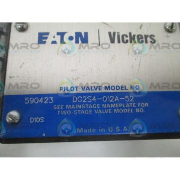 VICKERS Egypt  DG2S4-012A-52 HYDRAULIC DIRECTIONAL PILOT VALVE Origin NO BOX
