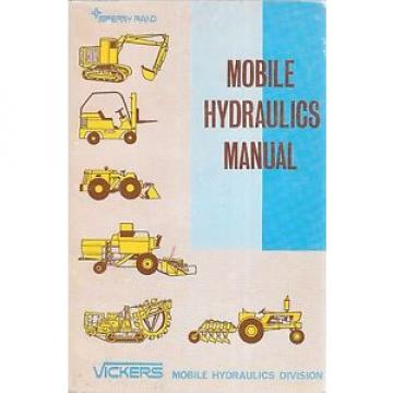 Sperry Moldova, Republic of  Rand  Vickers Mobile Hydraulics Manual M-2990 1968 2nd Printing Paperback