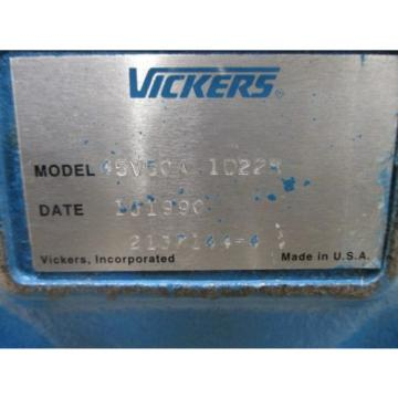 Origin Luxembourg  VICKERS V SERIES LOW NOISE HYDRAULIC INTRAVANE PUMP, PN# 45V50A 1D22R