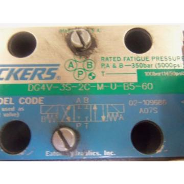 VICKERS Russia  DG4V-3S-2C-M-U-B5-60 DIRECTIONAL HYDRAULIC VALVE USED