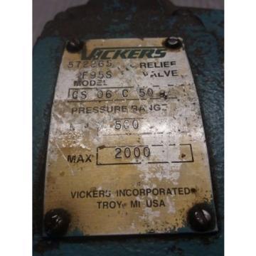 VICKERS Azerbaijan RELIEF VALVE_CS 06 C 50_CS06C50