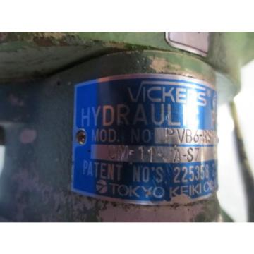 TOKYO UnitedStatesofAmerica MOTOR HYDRAULIC PUMP TDM-0514/0614 VICKERS HYDRO PVB6-RSY-20-CM-11-JA-S7